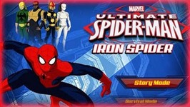 Marvel Ultimate Spiderman Iron Spider - Full Gameplay - Spider-Man Games