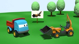Kids 3D Construction Cartoons For Children 5  Leo The Truck Builds A Loader