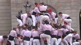 Catalan Castell Human Towers In Barcelona - Catalonia - Spain
