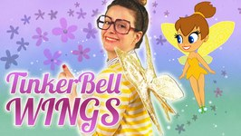 DIY Tinker Bell Fairy Wings Craft - Arts and Crafts with Crafty Carol