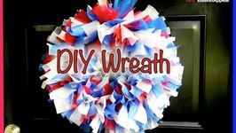 DIY Wreath made from Plastic Tablecloths - GiftBasketAppeal