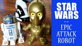 Star Wars Characters - R2-D2 C3PO Vs Epic Attack Robot  Force Awakens  Toy Story Batman Superman
