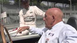 Sir Stirling Moss meets Lewis Hamilton - Monza Interviews