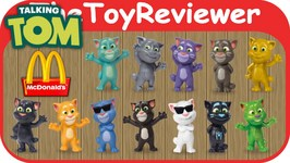 2016 Talking Tom Mcdonalds Happy Meal Toys Complete Of 12 Unboxing