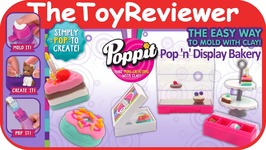 Poppit S1 Pop N Display Bakery Donut Macaroon Cake Tart Pie Unboxing Toy Review