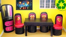 diy doll furniture. DIY- Doll Toilet Paper Roll Furniture Diy