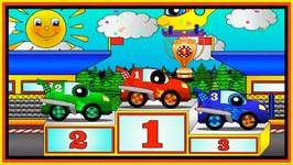 Cartoon Clown Cars Calamity Race - Learn Colors With Cars
