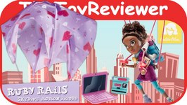 GoldieBlox Ruby Rails Skydive Action Figure Doll Unboxing Toy Review