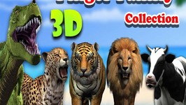 Animals Finger Family Rhymes Collection  3D Animation Animals Nursery Rhymes Collection