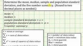 TI84 One Variable Statistics - Standard Deviation Video by ...