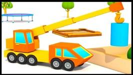 Excavator Max Cartoons - BIG CRANE TRUCK - Children's Surprise Eggs
