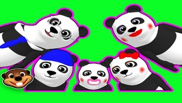 Finger Family Pandas  - Children's Nursery Rhyme - Baby Learning