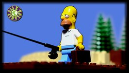 Lego Simpsons Shark Attack. Summer Fishing. What happened to Homer fishing in radioactive lake.