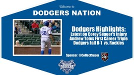 Dodgers Highlights: Andrew Toles Records 1st Career Triple in 8-1 Loss vs. Rockies