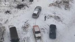 How to Reclaim your Parking Spot in Russia