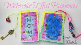 Watercolor Effect Bookmarks DIY
