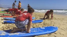 Alexandra Headland surfing lesson on the Sunshine Coast