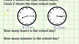 Determine the Hours and Minutes From a Start Time to Finish Time (Common Core 3/4 Math Ex 21)