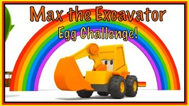 Excavator Max - EGG CHALLENGE - Construction Cartoons Playground