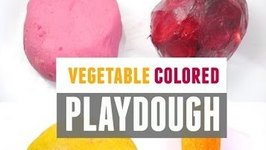 How To Make Homemade Playdough - No Cook, No Cream Of Tartar, Colored With Vegetable Juice.