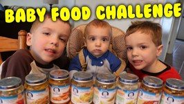 Kids Try Baby Food Taste Test Challenge  My 5 Year Old Twin Kids Try Baby Food