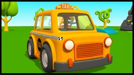 Kid's 3D Construction Cartoons  Leo the Truck's Taxi Cab - Surprise Egg Unboxing  Hide And Seek
