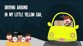 Driving Around in My LIttle Red Car Song Lyrics - Color Songs for Kids -  Nursery Rhymes
