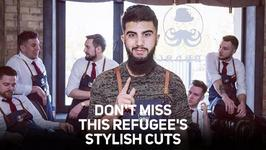 Sharp as fk: Don't miss this refugee's stylish cuts