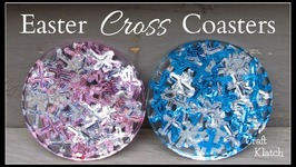 DIY Easter Confetti Cross Coaster  Another Coaster Friday  Craft Klatch
