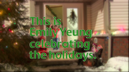 This is Emily celebrating the holidays.