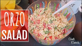 Orzo Salad  In the Kitchen with Craft Klatch