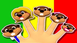 Finger Family Beavers Reggae - Learn Family Names - Nursery Rhymes