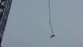 Man survives 160ft fall after bungee jump fail