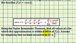 Ex: Find a Maclaurin Polynomial and the Interval for a Given Error - cos(x)