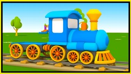 Toy Trucks   Leo Junior's Locomotive Train Construction Cartoons