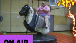 Aquarium Adrenaline Rushes VS Ladies on Mechanical Bulls