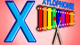 Letter X Song Phonic ABC Song ABC rhymes for Children in 3D X for Xylophone