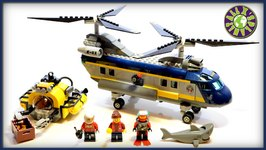Lego City Deep Sea Explorers Deep Sea Helicopter with Submarine 60093 Stop Motion Review