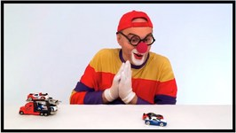 Children's Toy Cars - Transporter Rescue Truck - Clown Videos For Kids