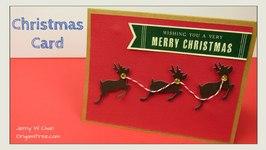 Christmas Crafts - DIY Christmas Card - Reindeer Paper Crafts - Handmade Card Demo and Tutorial