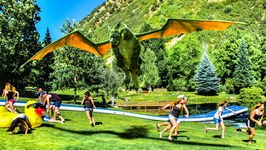 Human Zipline Slip and Slide with Pete's Dragon - DEVINSUPERTRAMP