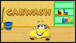Cartoon Car Wash For Children  Toy Car Beep Beep  Educational Videos For kids