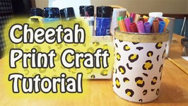 Cheetah Print Craft Tutorial- PawgustArt - GiftBasketAppeal