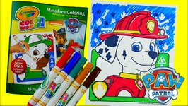 Coloring Marshall - New Paw Patrol Coloring Book Crayola Color Wonder Episode