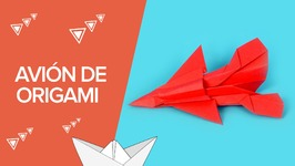 Cómo hacer un avión de caza de origami  Papiroflexia para niños