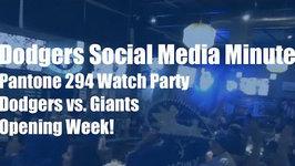 Dodgers Social Media: Pantone 294 Dodgers-Giants Watch Party