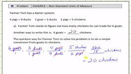 Non-Standard Unit Conversions (Unit Fractions)