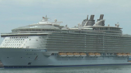 The World's Largest Cruise Ship Departs From Barcelona