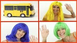 Wow  Hair Colors - Learn Colours With Toy Cars, Tayo Buses And Masha (Car Clown)