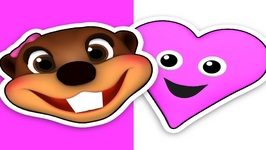 Pink Heart - Easy Children's Song - Learn Colors and Shapes